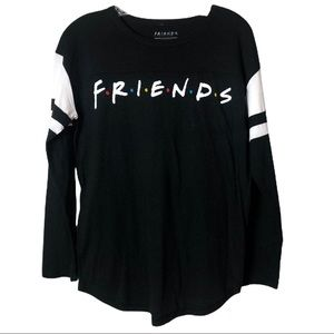 Friends Black Long Sleeve Graphic T-Shirt